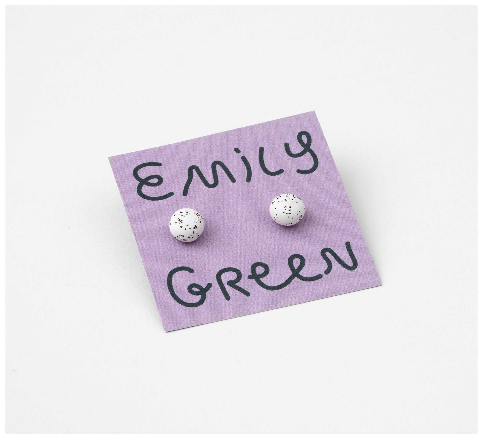 Emily Green Studio - Stud Earrings - Speckle - White Speckle
