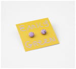 Emily Green Studio - Stud Earrings - Rock Pool - Orchid Speckle