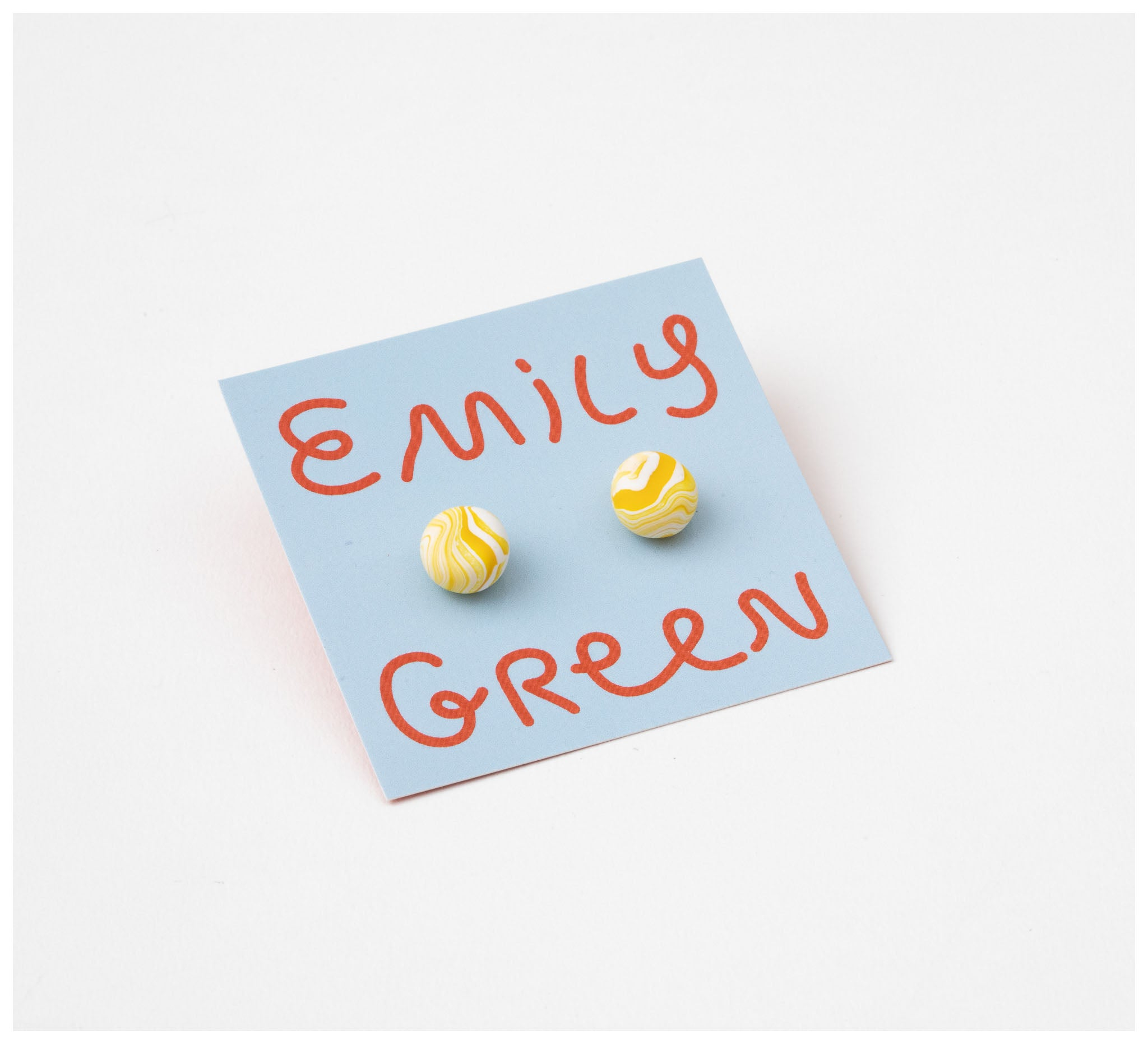 Emily Green Studio - Stud Earrings - Fast Sketch - Lemon Marble