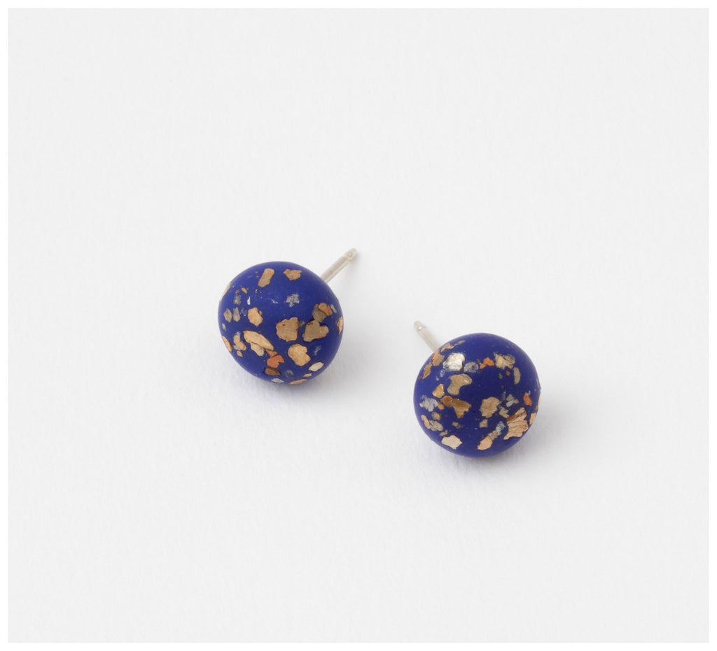Emily Green Studio - Stud Earrings - China Blue - Cobalt Blue