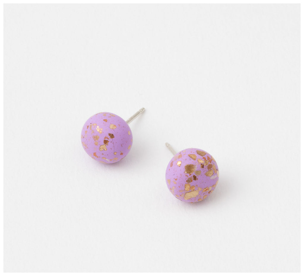 Emily Green Studio - Stud Earrings - Rock Pool - Orchid Gold