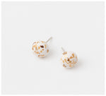Emily Green Studio - Stud Earrings - China Blue - White Gold