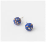 Emily Green Studio - Stud Earrings - Rock Pool - Turkish Sea Blue Gold
