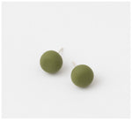 Emily Green Studio - Stud Earrings - Dot Dash - Forest