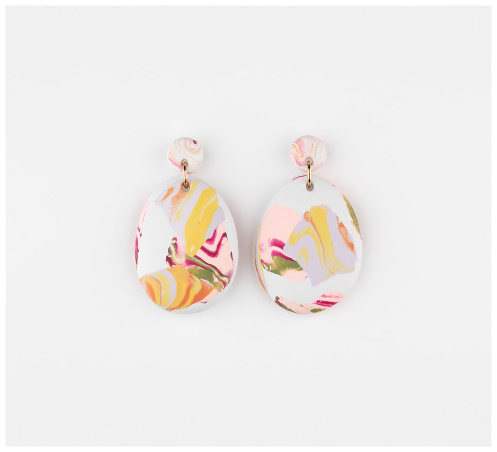 Emily Green Studio - Drop Earrings - Rock Pools - Sea Smoke