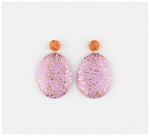 Emily Green Studio - Drop Earrings - Peach and Lilac Terrazzo