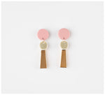 Erin Lightfoot - Small Porcelain Tassels - Pink & Gold
