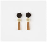 Erin Lightfoot - Small Porcelain Tassels - Black & Gold