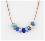 Emily Green Studio - 9 Bead Necklace - Gossling Harvest of Gold - Cornflower
