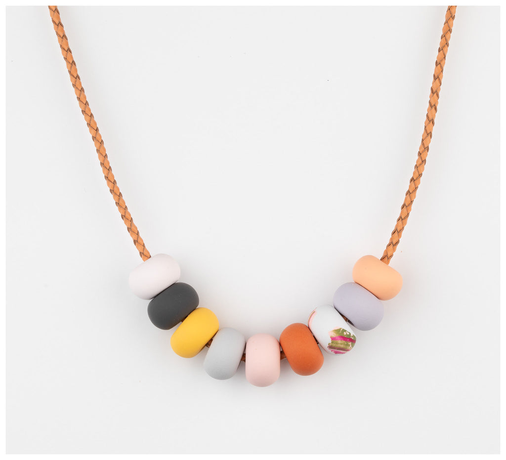Emily Green Studio - 9 Bead Necklace - Rock Pools - Sea Smoke