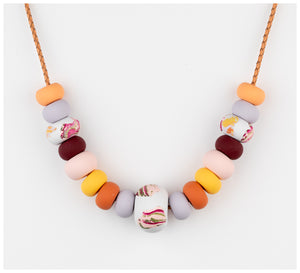 Emily Green Studio - Big Bead Necklace - Rock Pools - Sea Smoke