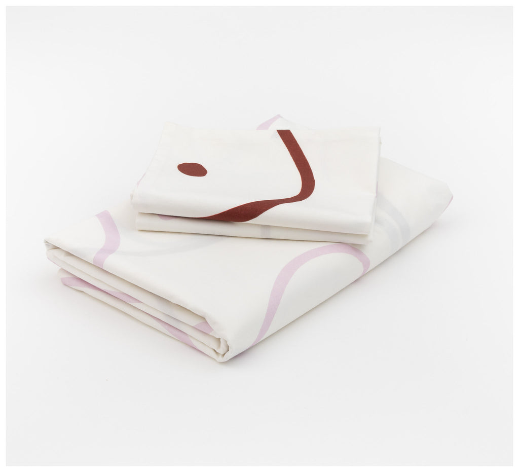 Mosey Me - Salento Quilt Cover Set - Wine & Orchid