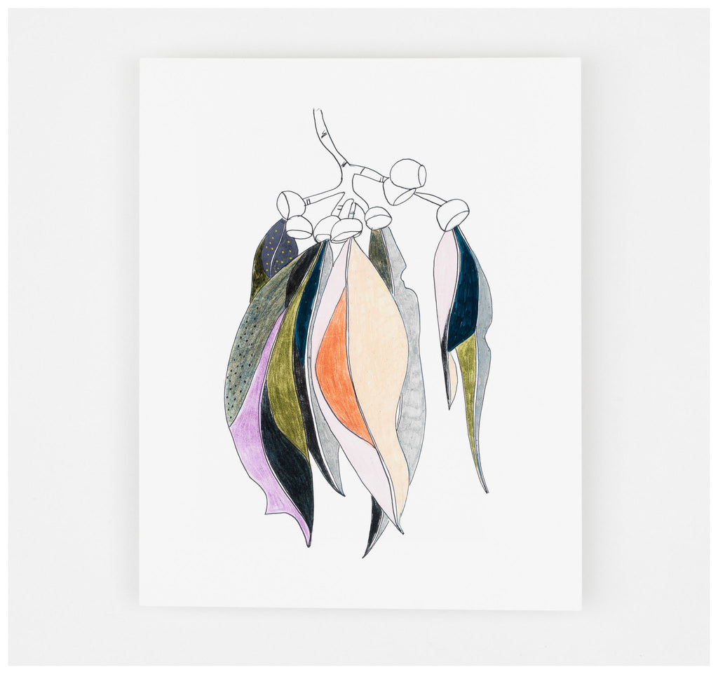 Studio Onethirty - Petite Series 'Gum Leaves No.2' Fine Art Print - Unframed