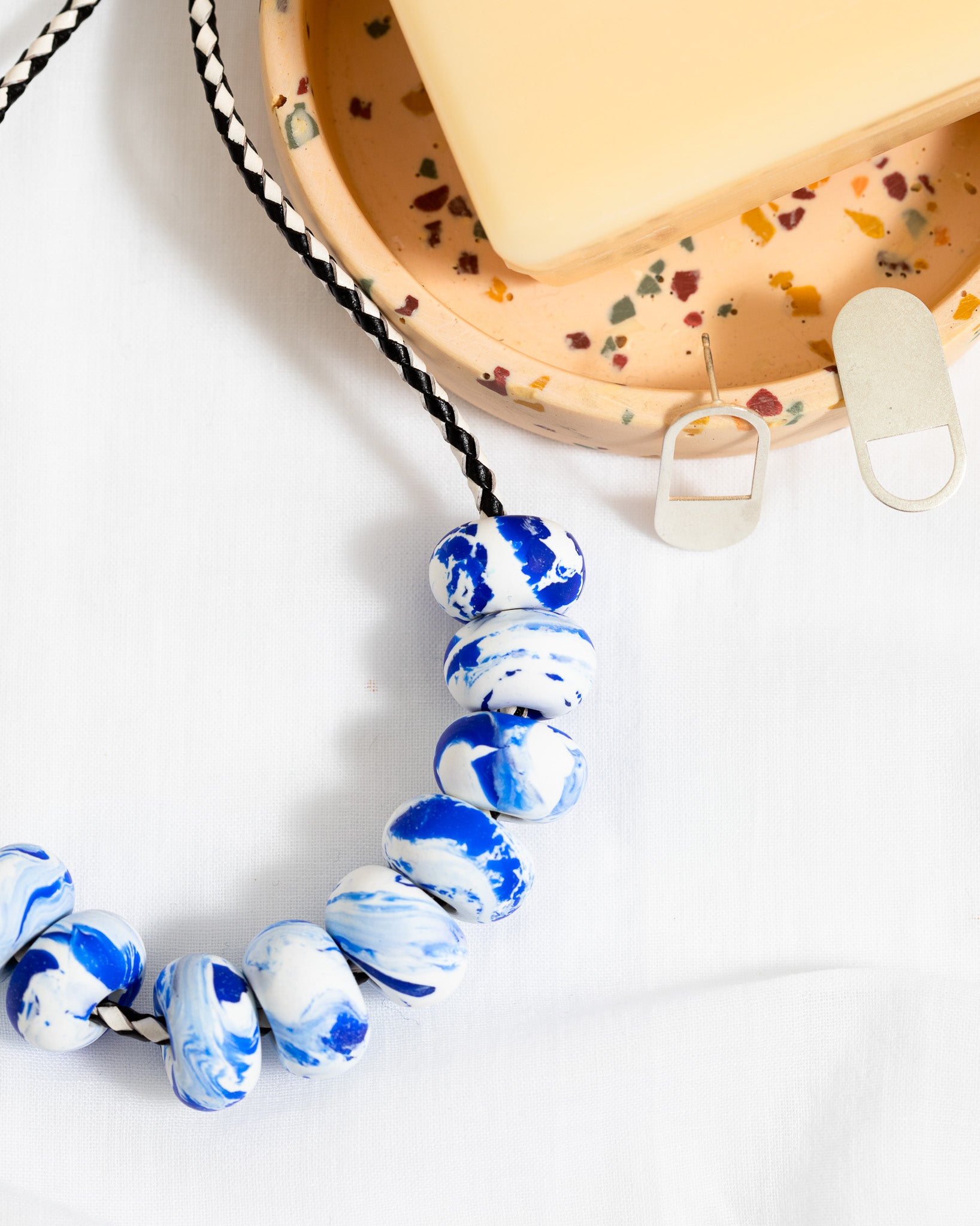 Emily Green Studio - 9 Bead Necklace - China Blue