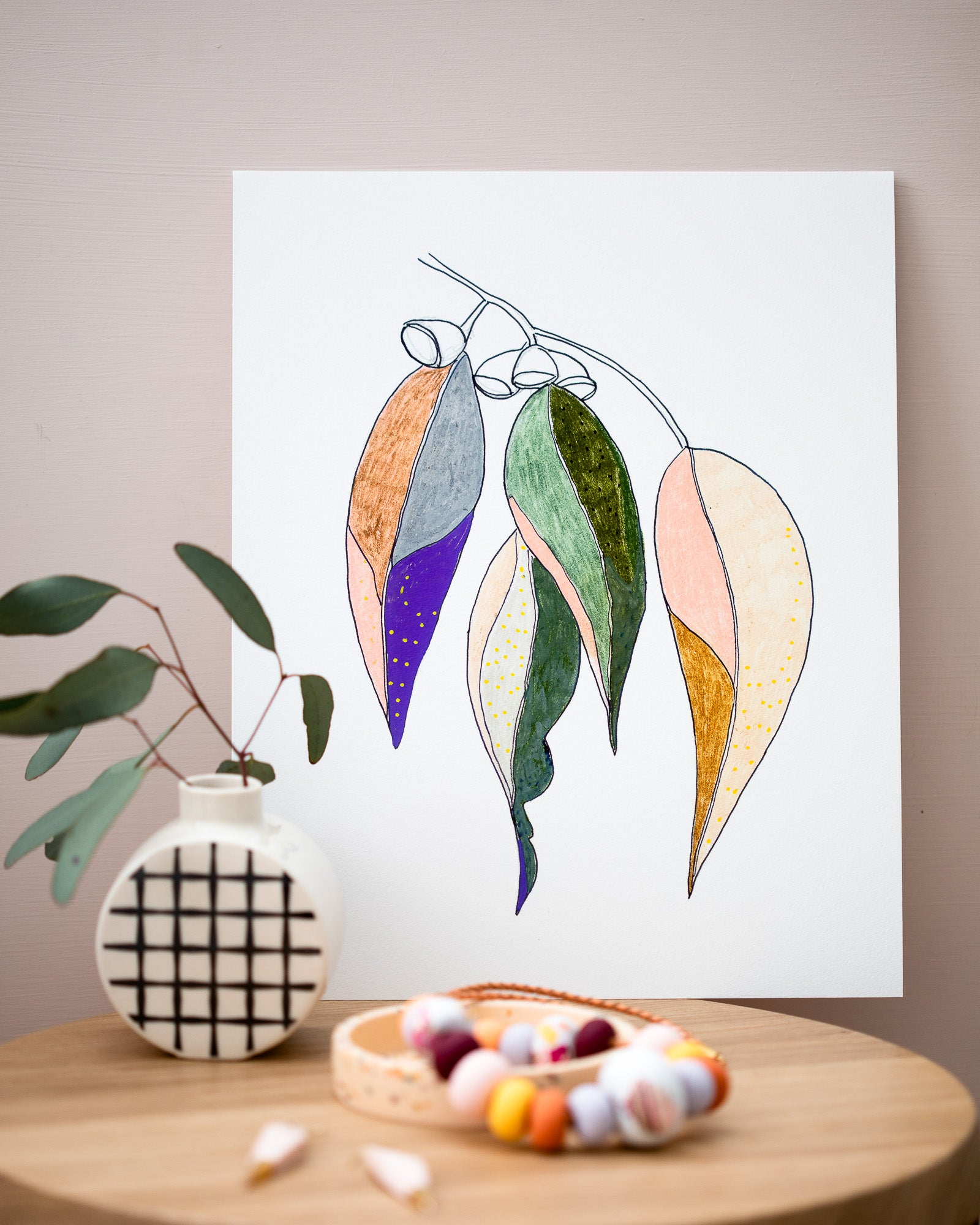 Studio Onethirty - Petite Series 'Gum Leaves No.3' Fine Art Print - Unframed