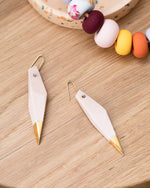 State of Permanence - Edge Earrings - Blush/Gold