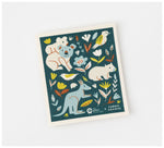 Fabric Drawer - Compostable Dish Cloth - Biodegradable & Compostable - Save The Animals Print