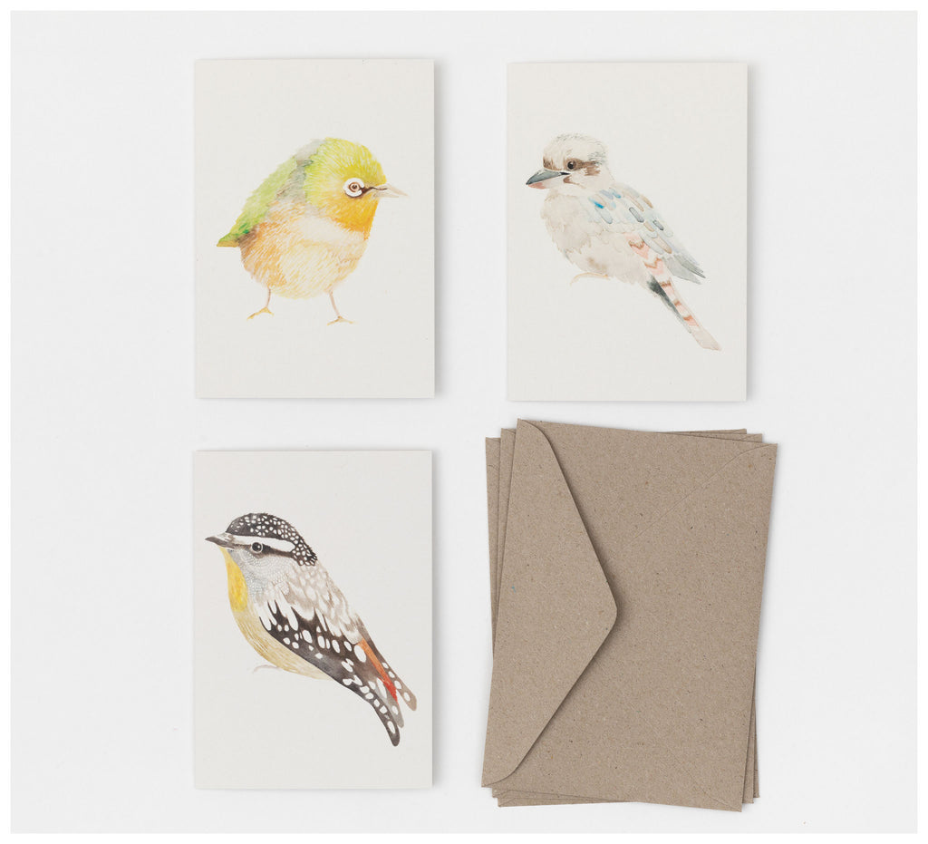 Ink & Spindle - Greeting Cards - Set of 3 - Native Birds