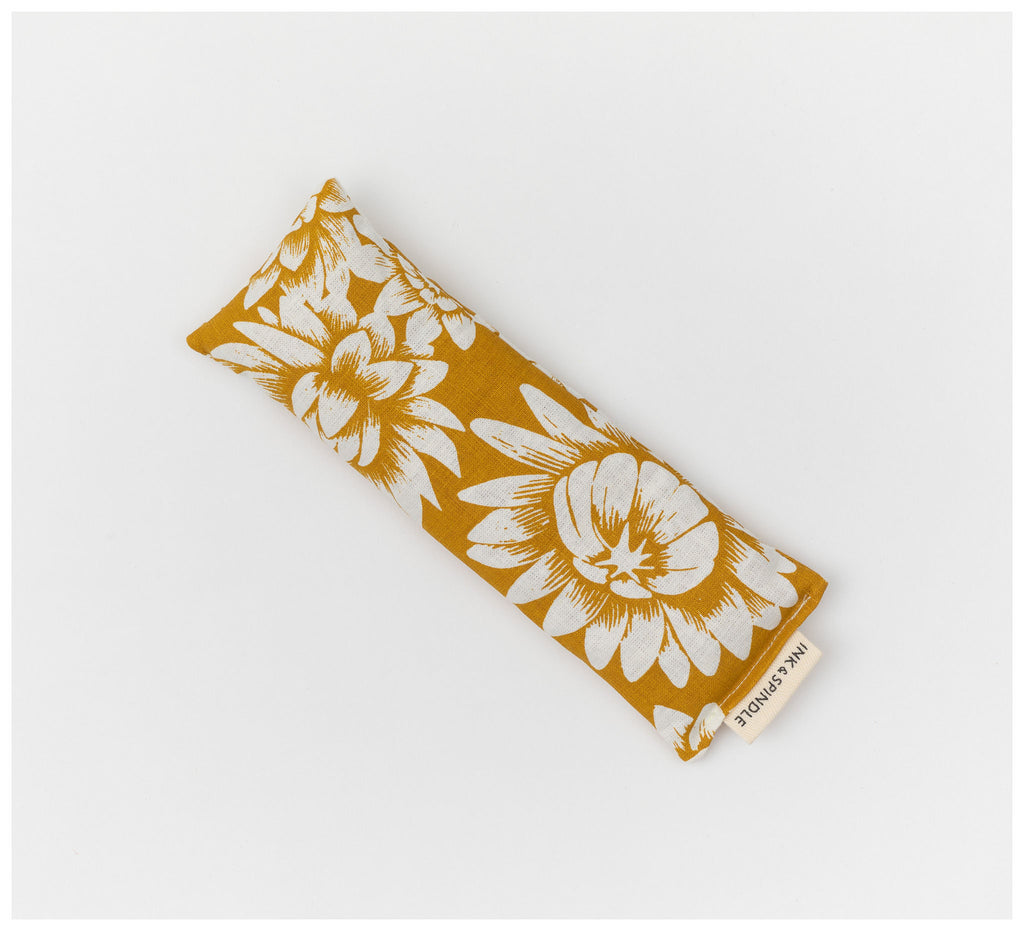 Ink & Spindle - Eye pillow - Everlasting in Yellow Ochre