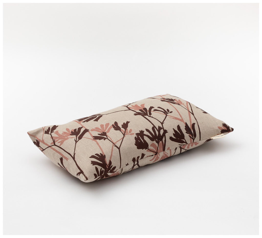 Ink & Spindle - Rectangle Cushion – Kangaroo Paw in Earth & Rose