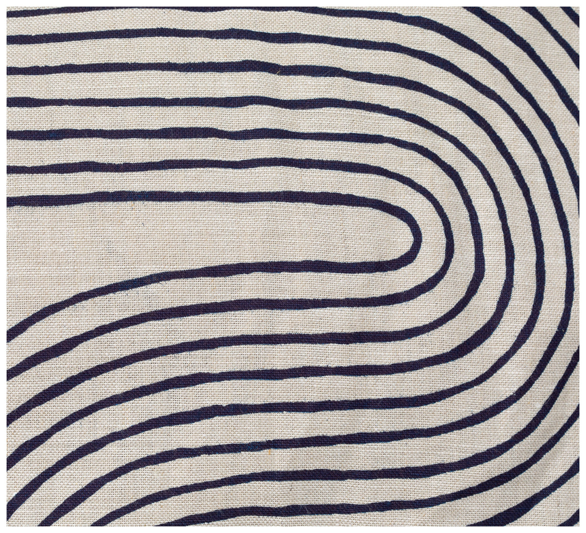 Ink & Spindle - Rectangle Cushion – Riverbend in Inky Blue