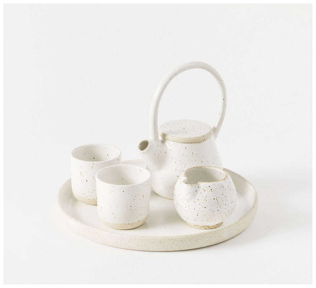 State of Permanence - Tea set - Speckle