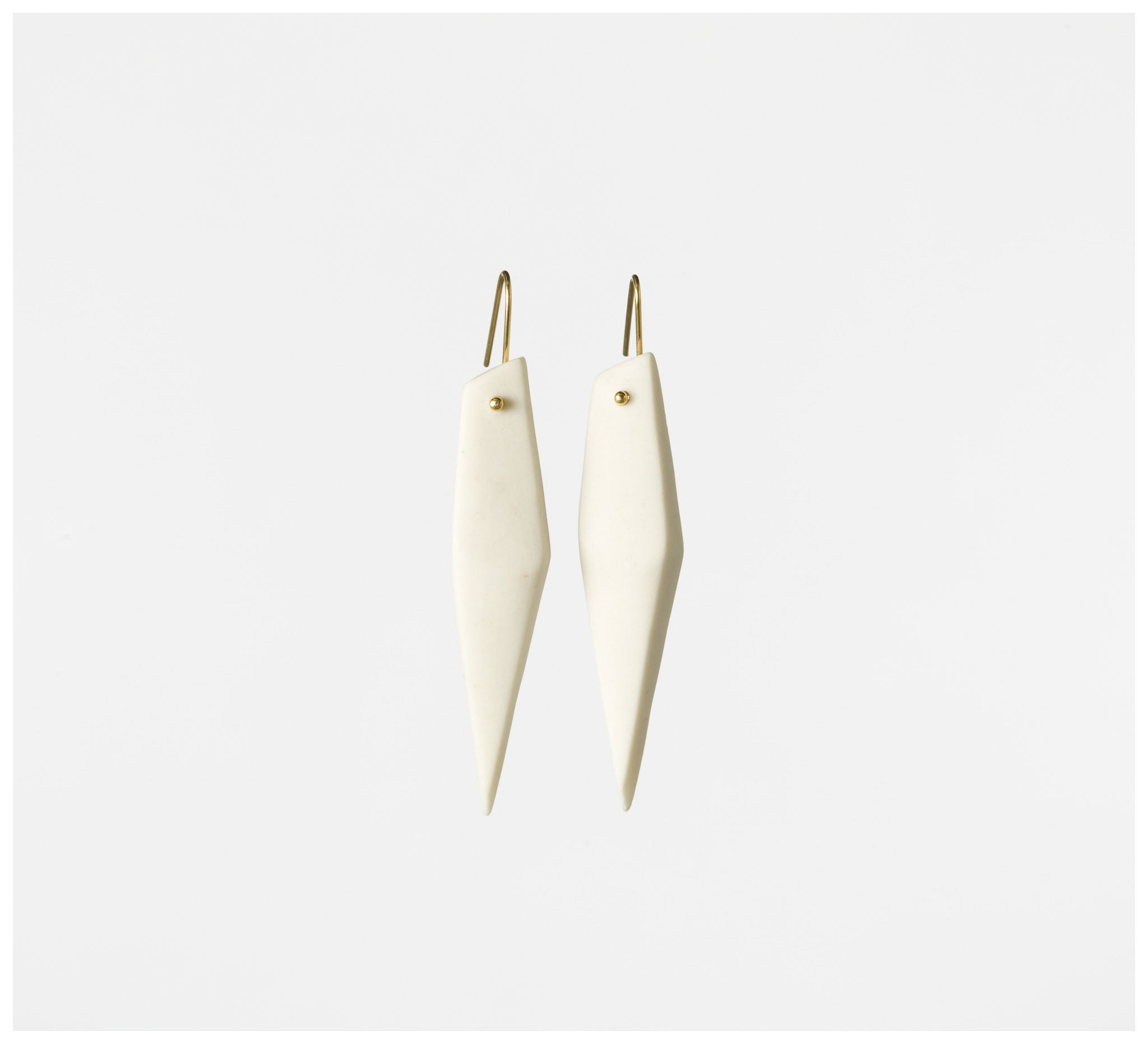 State of Permanence - Edge Earrings - White #3