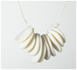 Warisa - Necklace - Chips - White