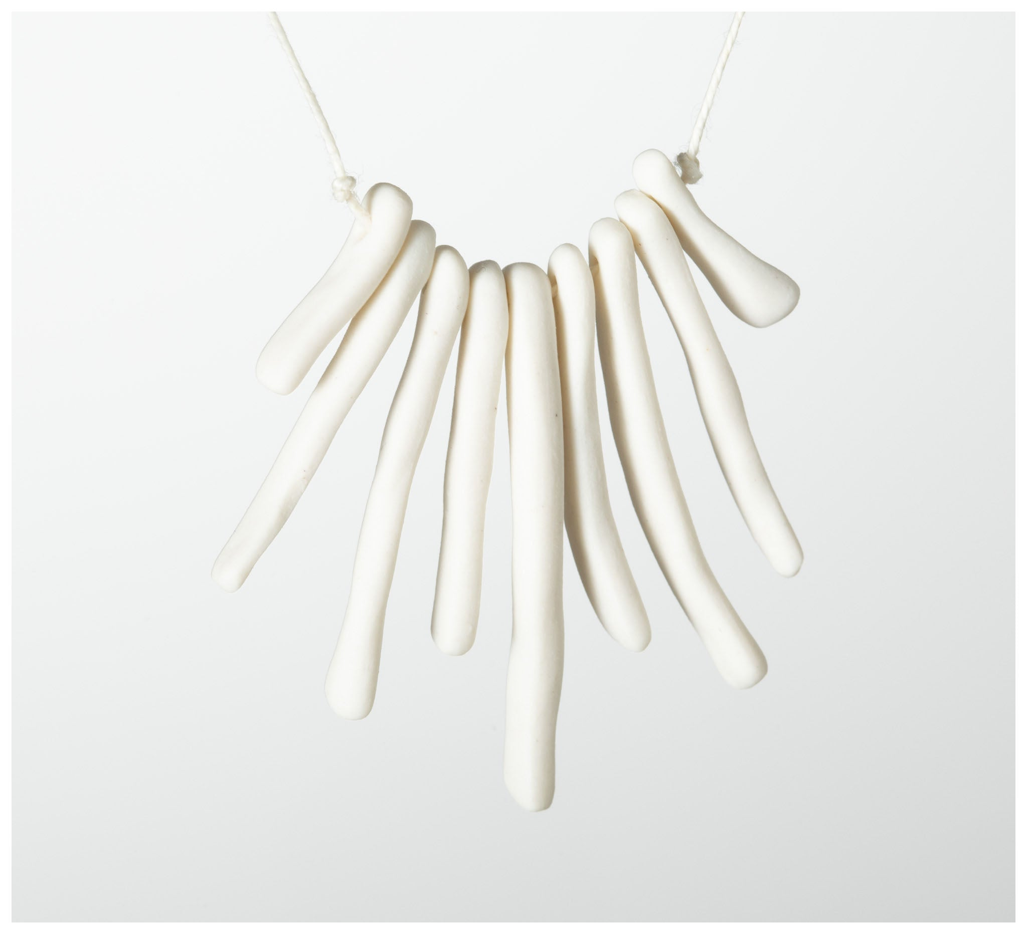 Warisa - Necklace - Bones - White