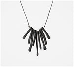 Warisa - Necklace - Bones - Black