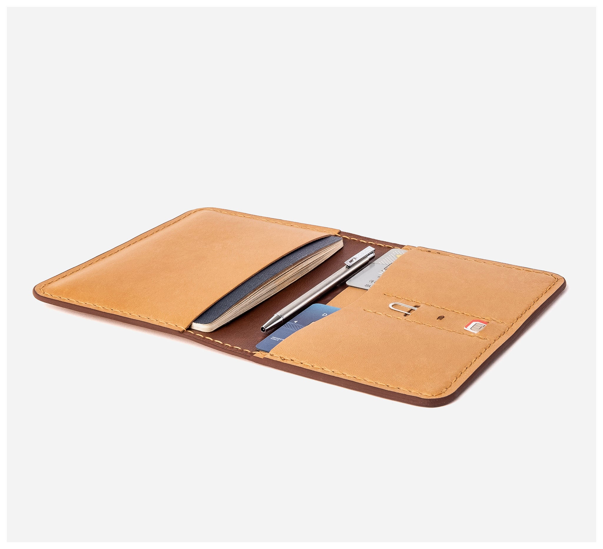 Blackinkk - Travel Wallet RFID - Kangaroo Leather - Camel
