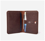 Blackinkk - Travel Wallet RFID - Kangaroo Leather - Vintage Chocolate