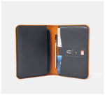 Blackinkk - Travel Wallet RFID - Kangaroo Leather - Graphite Grey