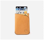 Blackinkk - Two Pocket RFID Cardholder - Kangaroo Leather - Camel