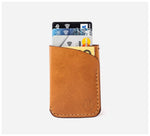 Blackinkk - Two Pocket RFID Cardholder - Kangaroo Leather - Vintage Caramel