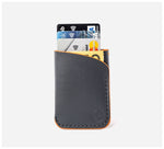 Blackinkk - Two Pocket RFID Cardholder - Kangaroo Leather - Graphite Grey