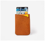 Blackinkk - Two Pocket Cardholder - Kangaroo Leather - Vintage Caramel