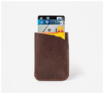 Blackinkk - Two Pocket Cardholder - Kangaroo Leather - Vintage Chocolate