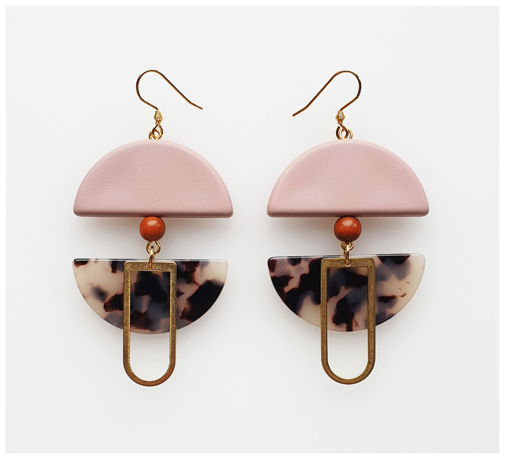 Middle Child - Helm Earrings - Pink