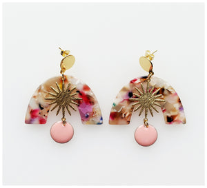 Middle Child - Celeste Earrings - Pink