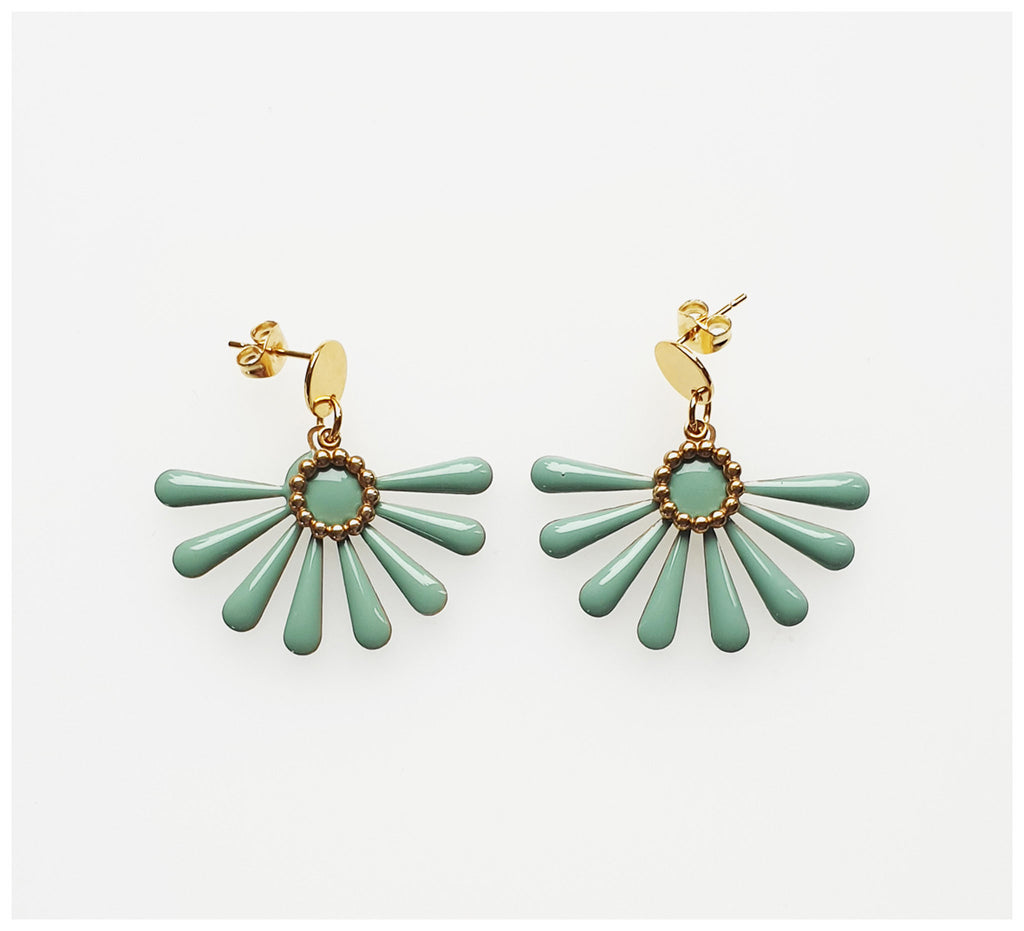 Middle Child - Flossie Earrings - Duckegg