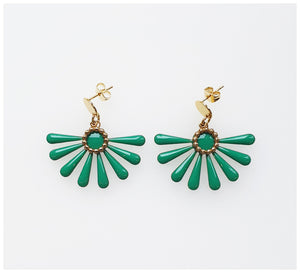 Middle Child - Flossie Earrings - Green