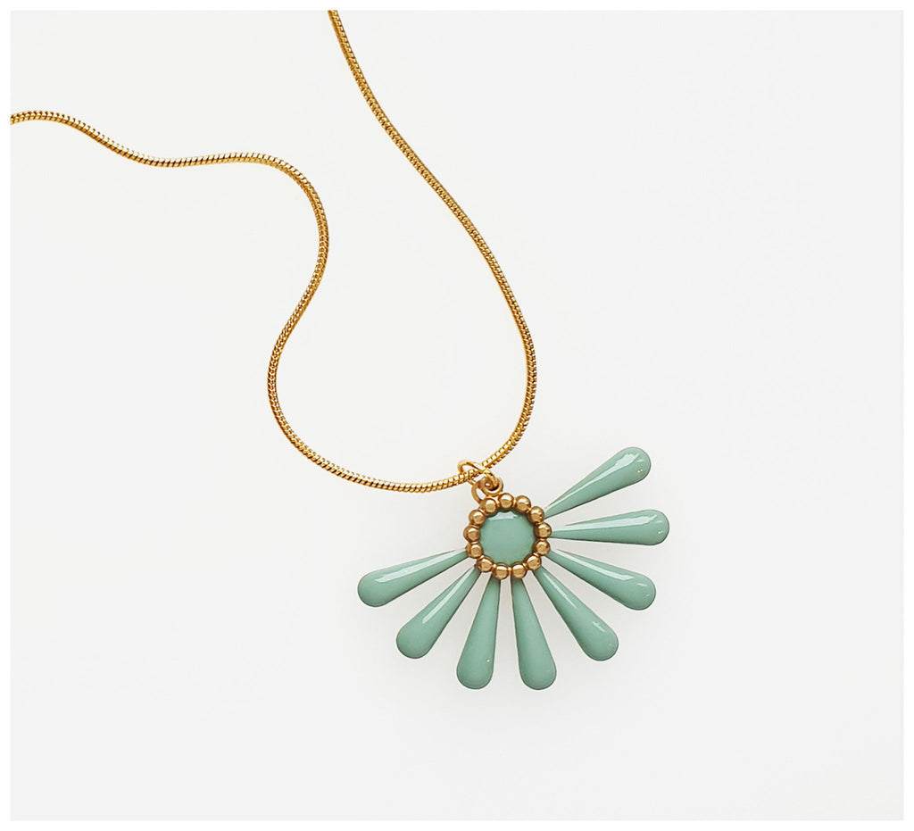 Middle Child - Flossie Necklace - Duckegg