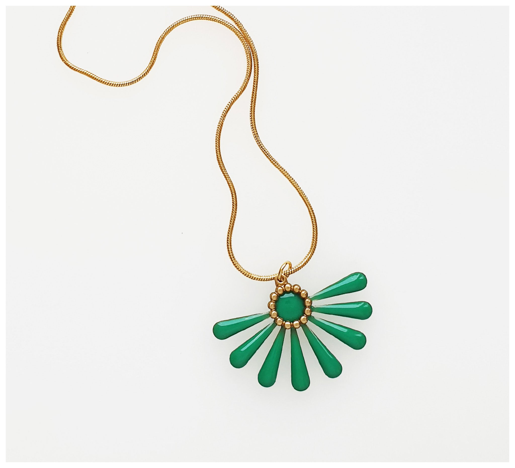 Middle Child - Flossie Necklace - Green