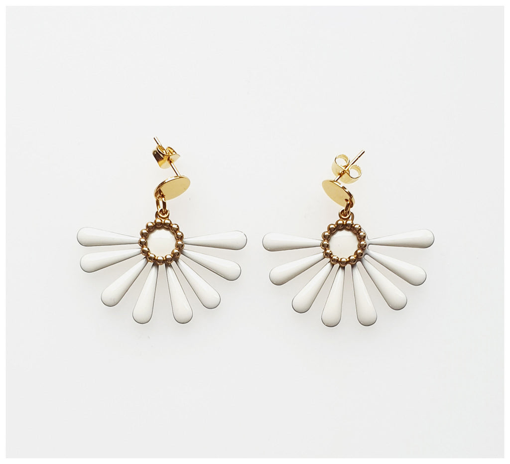 Middle Child - Flossie Earrings - White