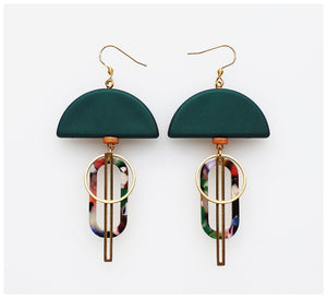 Middle Child - Halyard Earrings - Green