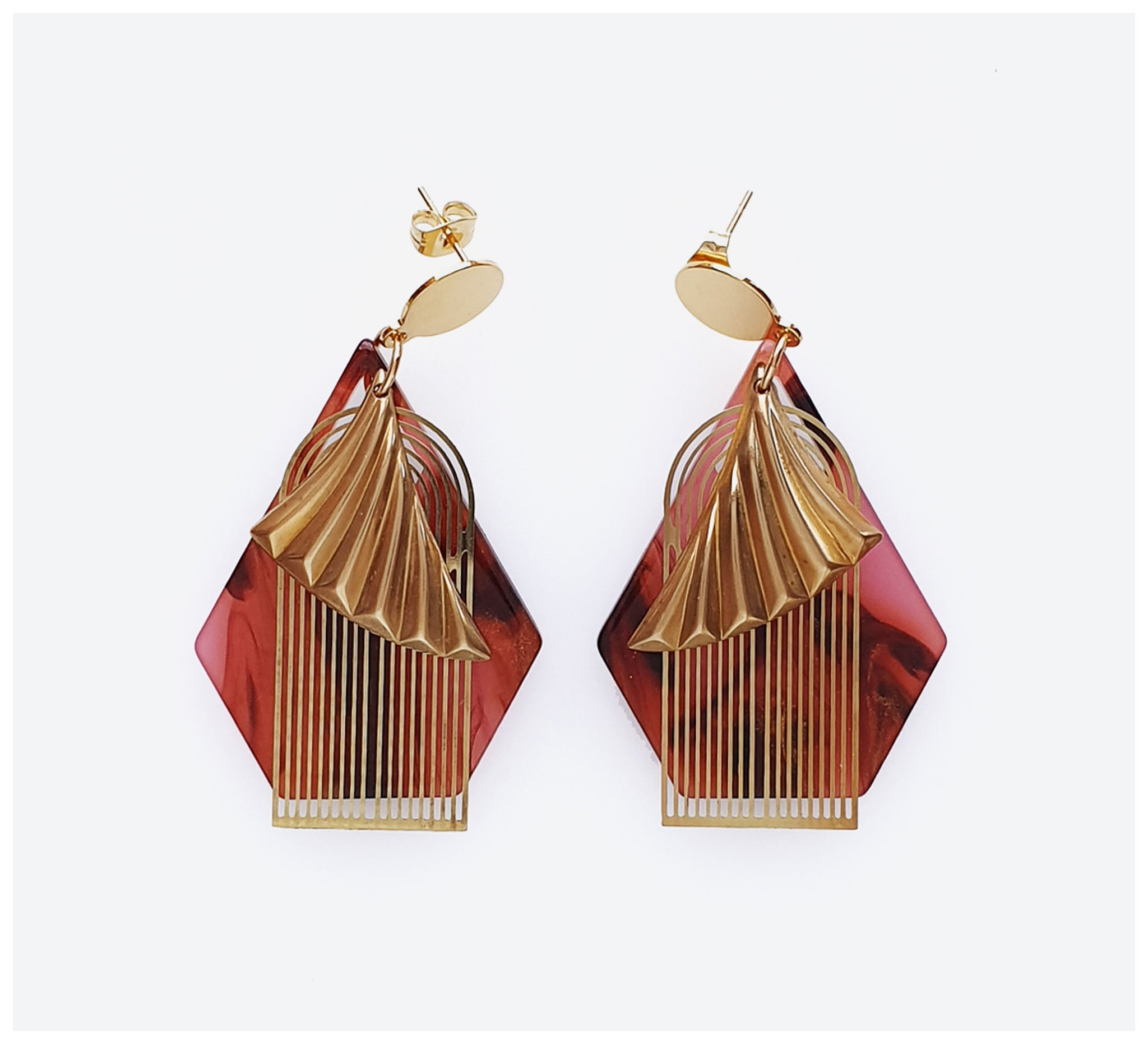 Middle Child - Waltz Earrings - Berry