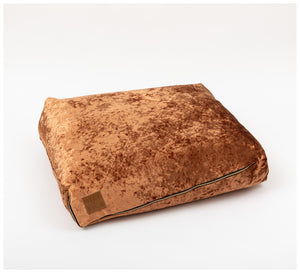 Nice Digs - Velvet Copper Slouch Bed