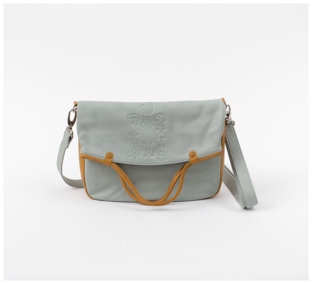 Oktoberdee - Monon Leather Satchel - Totem - Sky