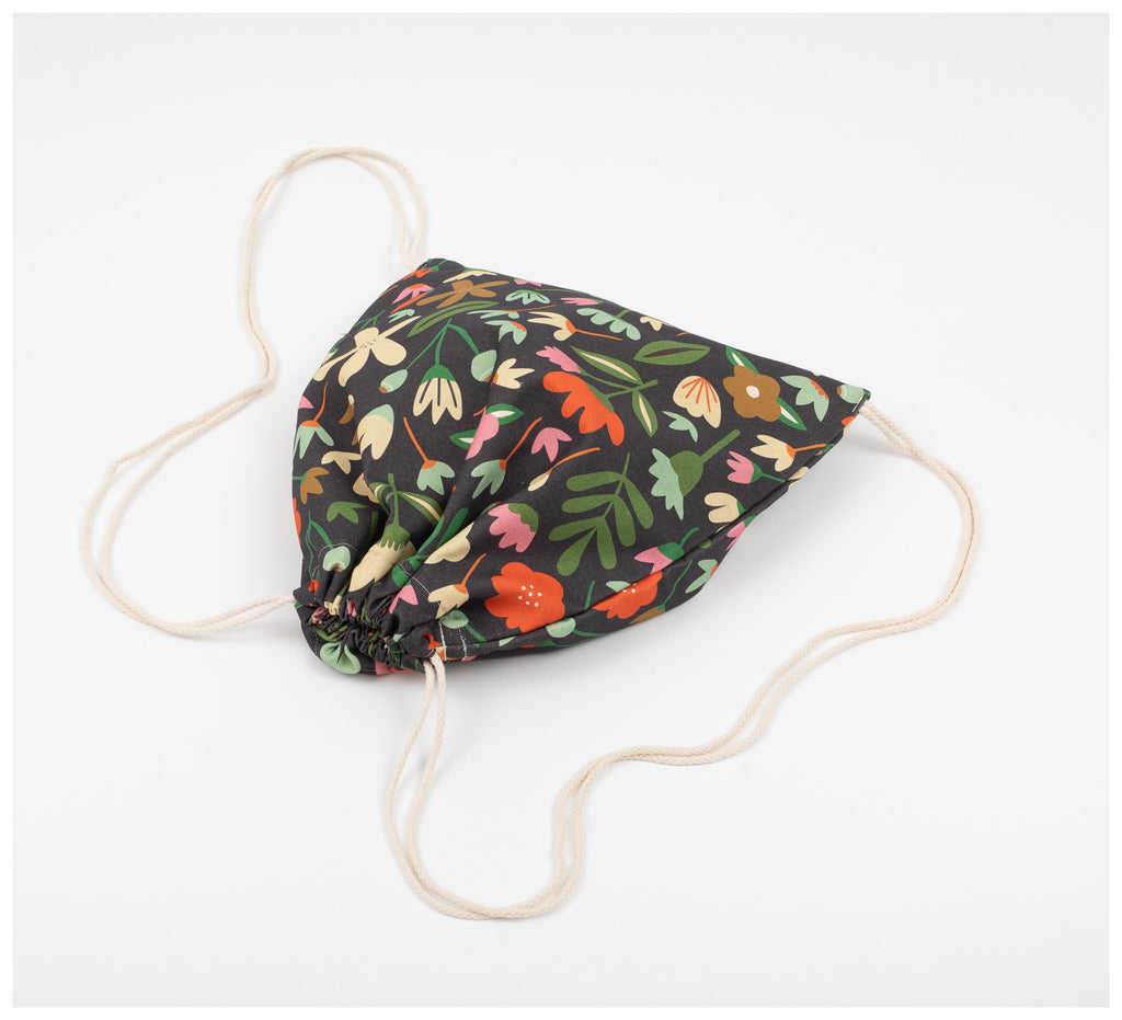 Fabric Drawer - Drawstring Bag - Winter Garden
